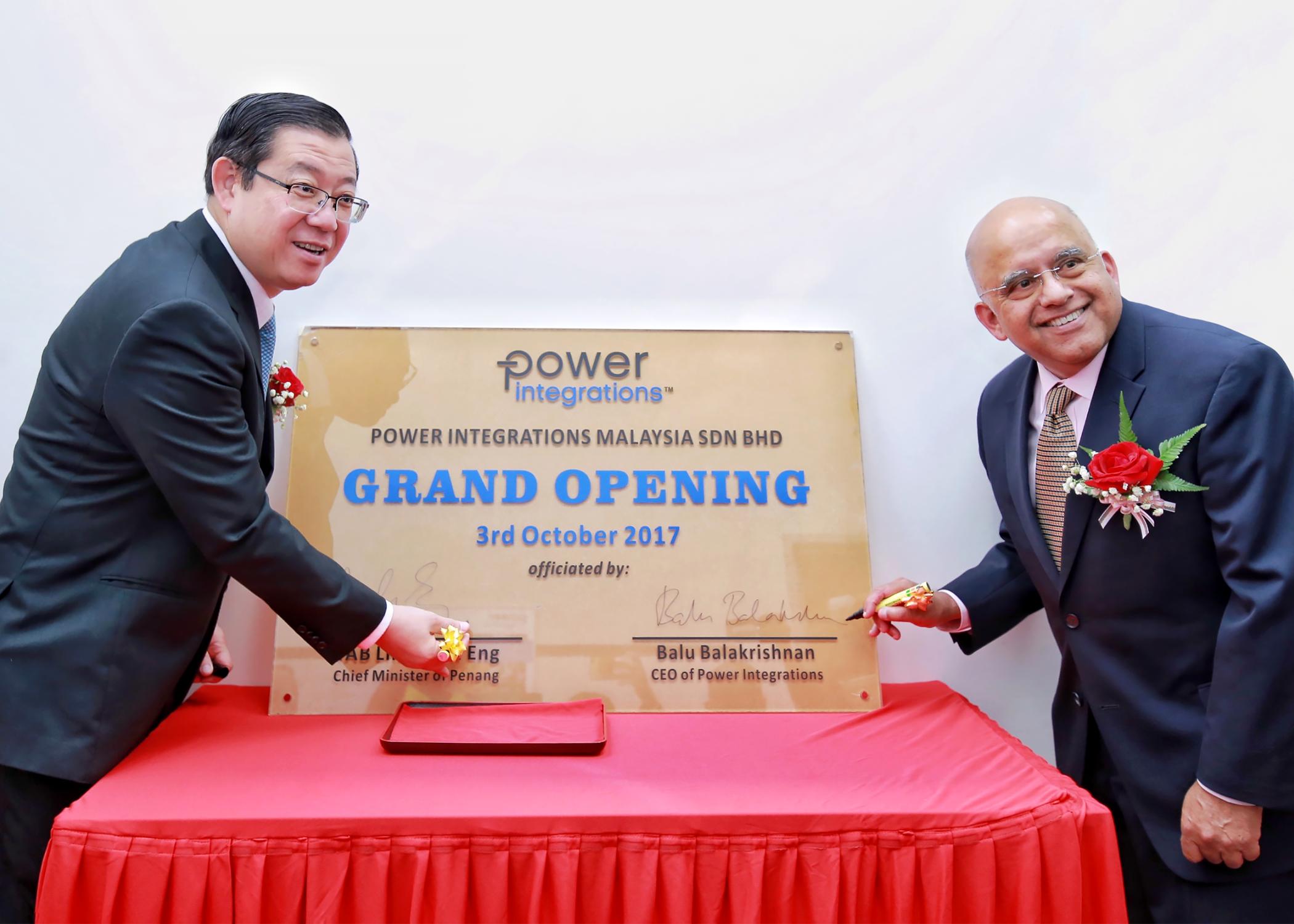 Power Integrations在馬來西亞設立生產支持與研發中心, 以期擴大在亞洲的業務范圍