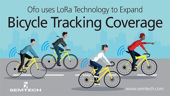 ofo采用Semtech的LoRa技術來擴大共享單車的跟蹤范圍
