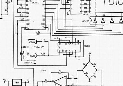 稱重傳感器實際電路原理分析