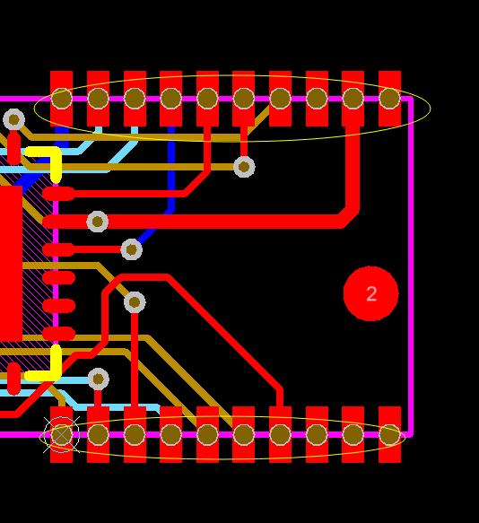 半孔设计超制程。示意图1