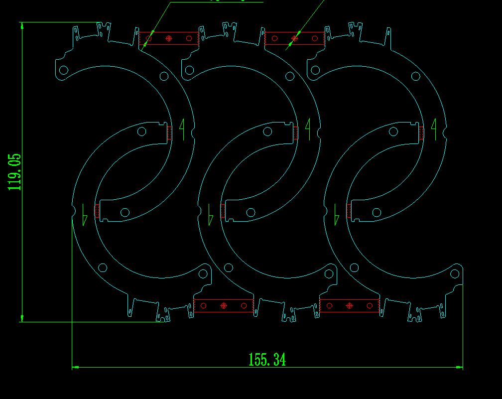 外形及拼板示意图1