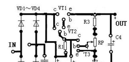 实用的直流稳压电源的电路原理图
