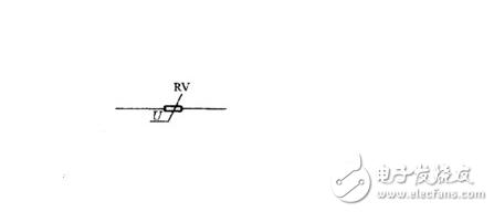 压敏电阻的符号是什么?是串联在电路中还是并联在电路中?
