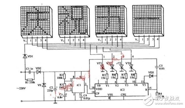 led灯带控制器原理图