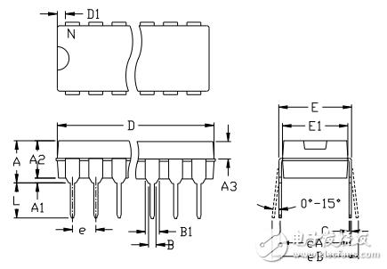 MAX7219封装尺寸图及规格