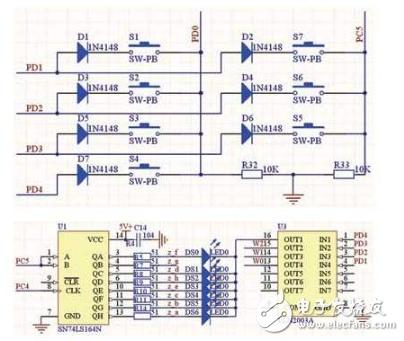 液晶显示电路采用zjm12864bsbd,这是一款低功耗的点阵图形式lcd,显示