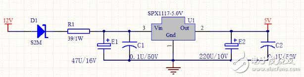 AMS1117稳压电路图(1.2v、1.8v、3.3v、5v)