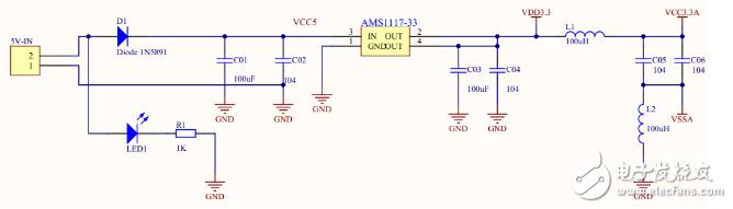 AMS1117的5v转3.3v电路原理