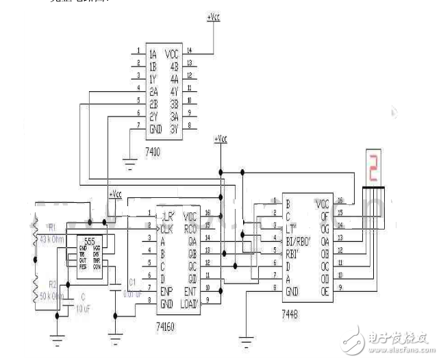 5进制计数器设计方案二:基于74ls160的5进制计数器设计