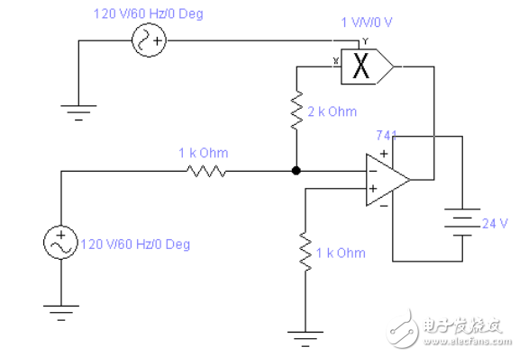 若乘法模拟器的输出端通过电阻接集成运放的同相输入端,则为保证电路