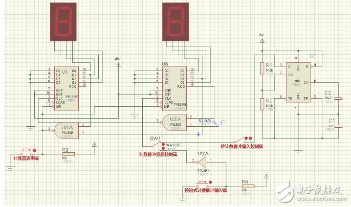 74ls160构成24进制计数器