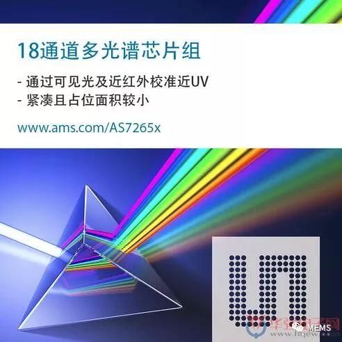 AMS推出18通道多光谱传感器解决方案 为光谱传感应用带来更多想象空间