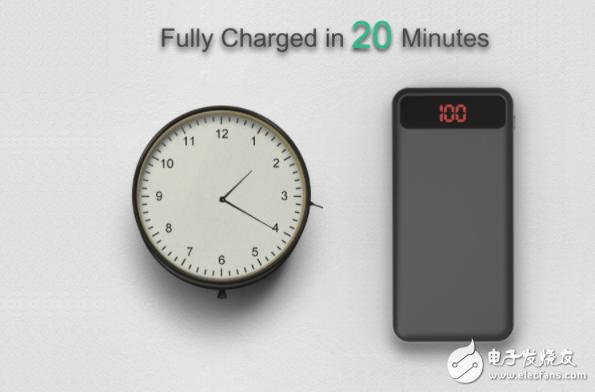 第一款石墨烯充电宝问世 20分钟充满6000毫安