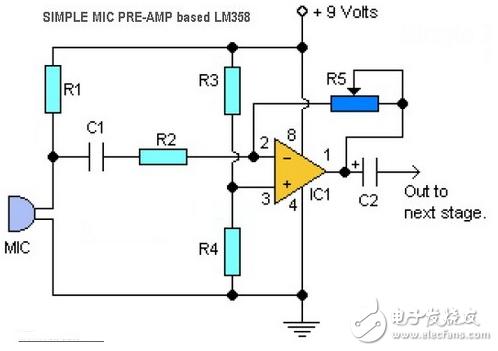 lm358音频放大电路图(7款电路图分享)