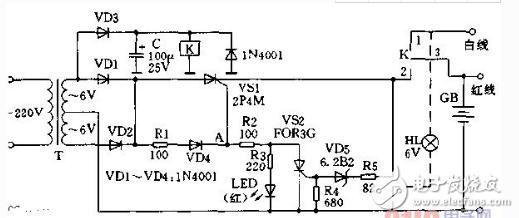 6v蓄电池充电器电路图(七款蓄电池充电器电路图详...