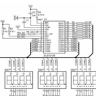 键盘与数码管接口典型应用电路及寄存器