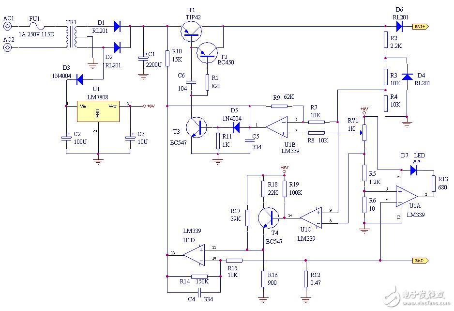简易12v充电器电路图(七款12v充电器电路图详...