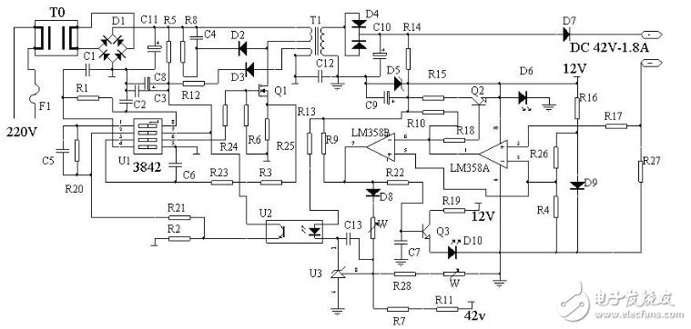 用lm358自制12v充电器(六款充电器电路详解)