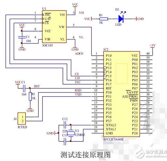 数字电位器x9c103应用电路 - 全文