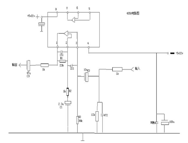 4558双声道运放电路图(六款电路图分享)