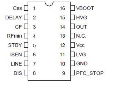 l6599d引脚功能及电压
