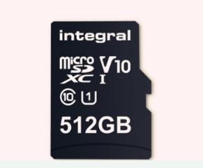 512GB microSD存储卡发售 满足10MB/s写入速度