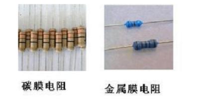 碳膜电阻和金属膜电阻的区佩