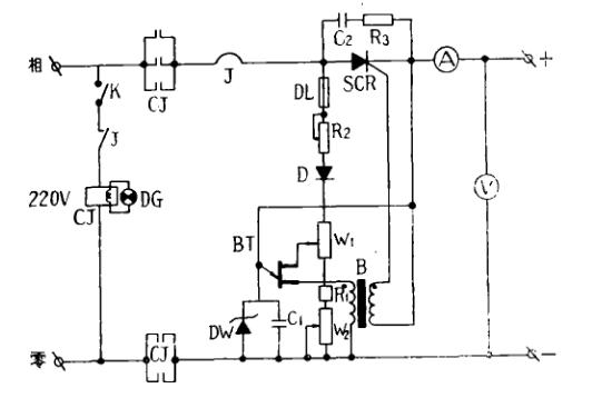 简单可控硅充电机制作(四款可控硅充电机电路图详解...