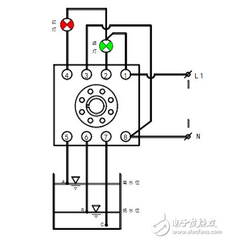 液位继电器排水接线图(图文详解)
