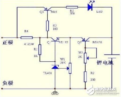 7v锂电池充电电路图(几款锂电池充电电路原理详解)