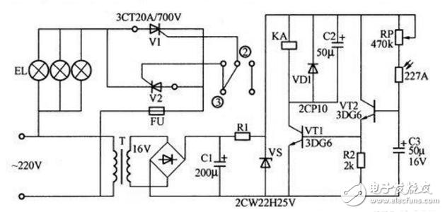 220v光控开关电路图大全(可控硅/继电器/单敏...