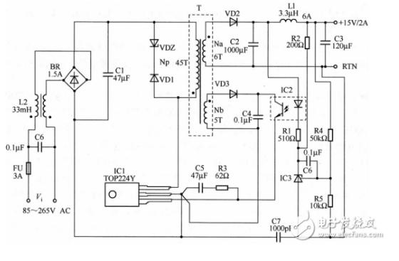 光耦开关电源电路图大全(光电耦合器/可控精密稳压...