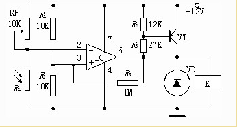 光敏电阻典型应用电路