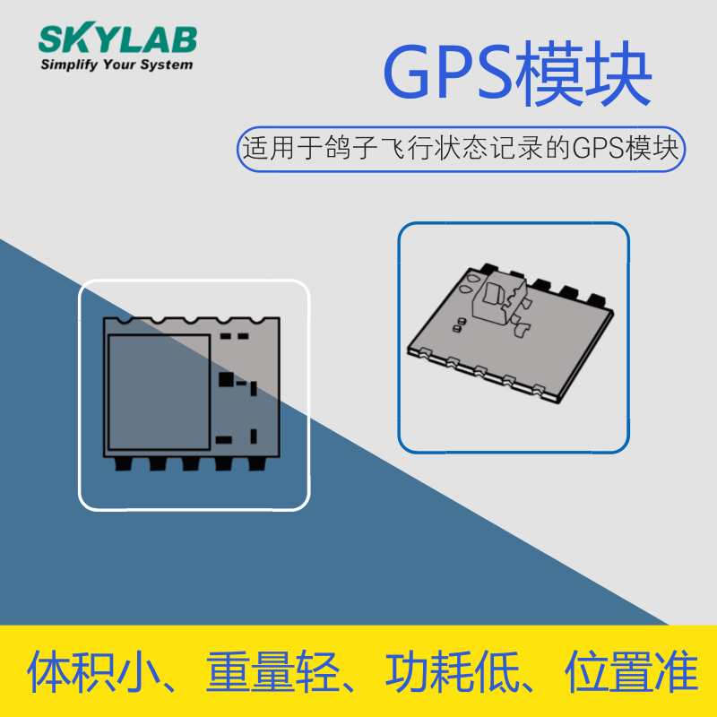 SKYLAB最新推出适用于鸽子飞行状态记录的GPS模块