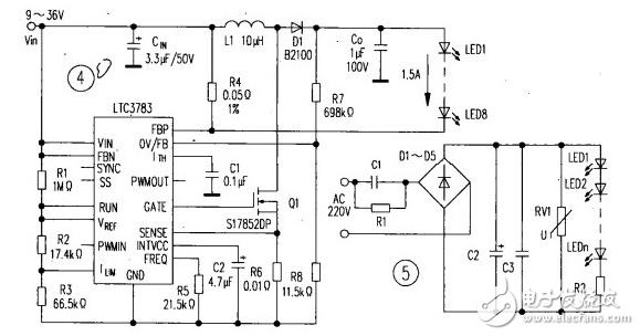 led灯驱动电源电路图大全(六款模拟电路设计原理图详解)