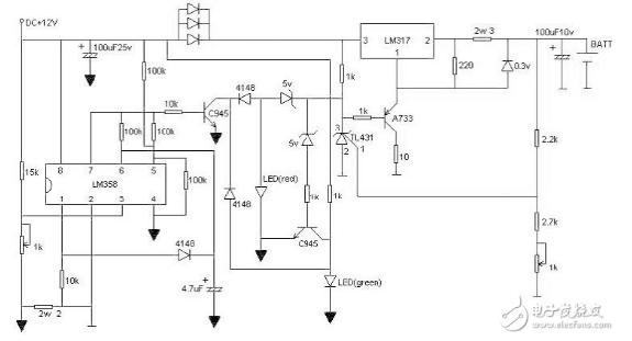 自制12.6v锂电池充电器(八款电路原理图详解)