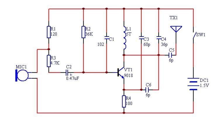 9018无线话筒电路图(四款无线话筒电路图)