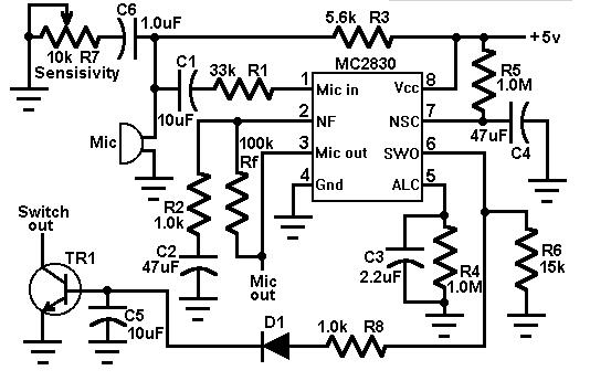 声控开关电路设计汇总(八款设计电路原理详解)