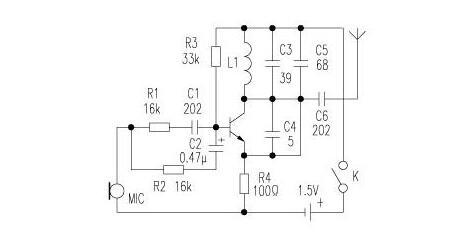 1.5v电池无线话筒制作(六款无线话筒电路图制作)