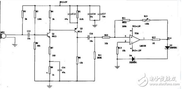 声光控制电路图大全(声光控节能灯/延时节电灯/声光控楼梯延迟开关电路)