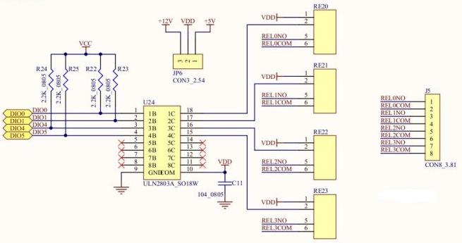 单片机3.3V驱动继电器电路(四种电路设计原理图详解)