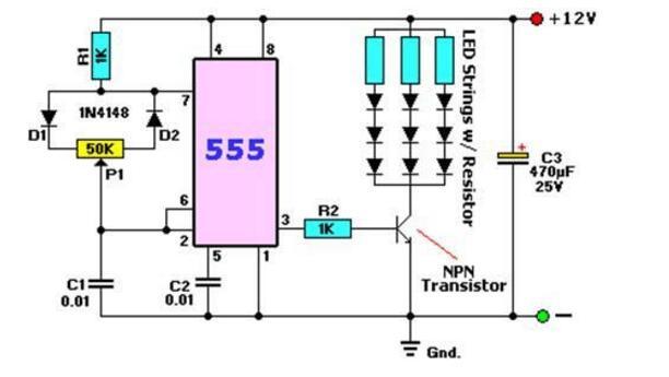 四款555脉冲宽度调制电路详细介绍