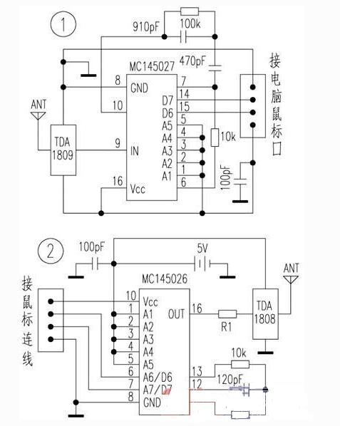 无线鼠标电路是如何工作的