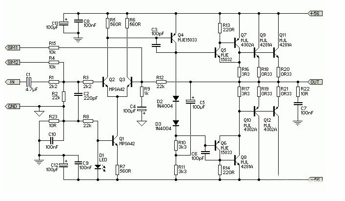 300W音频功放电路图(四款300W音频功放电路图详解)