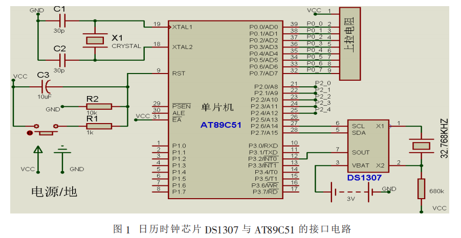 而是采用1602lcd液晶实时显示时间,这样电路的设计就会相对简单一些