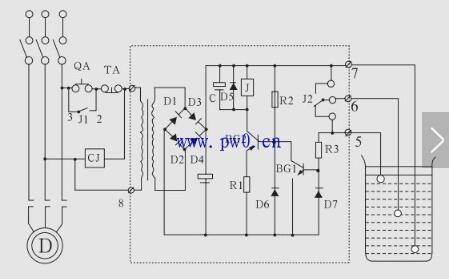 液位控制继电器怎么接_液位控制继电器接线图