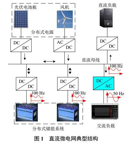 直流微电网变换器的二次纹波电流抑制