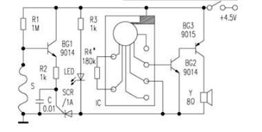 断线报警器电路图大全(六款模拟电路设计原理图详解)
