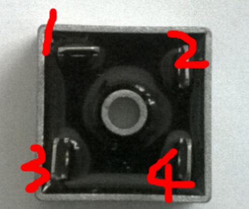 桥式整流器4个脚接线图