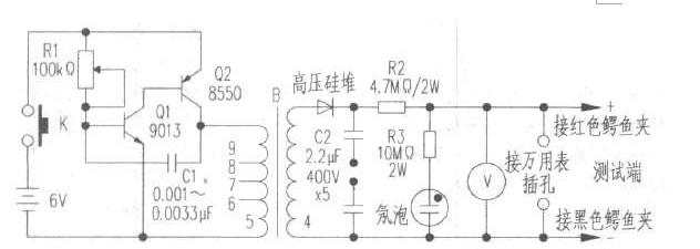 自制晶體管耐壓測試器